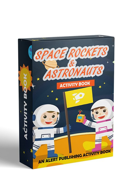 Have Fun with these FREE Top Quality Space Rockets & Astronauts Illustrations already to colour