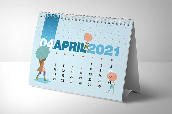 Personalized Desk Calendars 5% discount if ordered by 31st October 2021