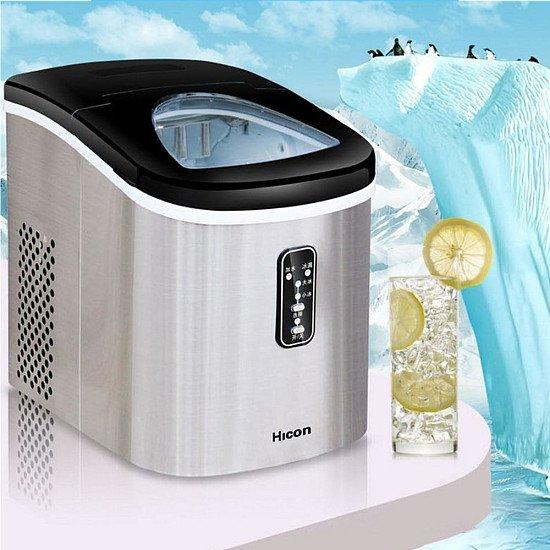 12 KG Ice Maker Machine Home Small Square Ice Cube Freezing Milk Tea Shop Bottled Water Bar Desktop