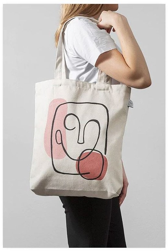 SAVE 30% - ABSTRACT FACE TOTE BAG!