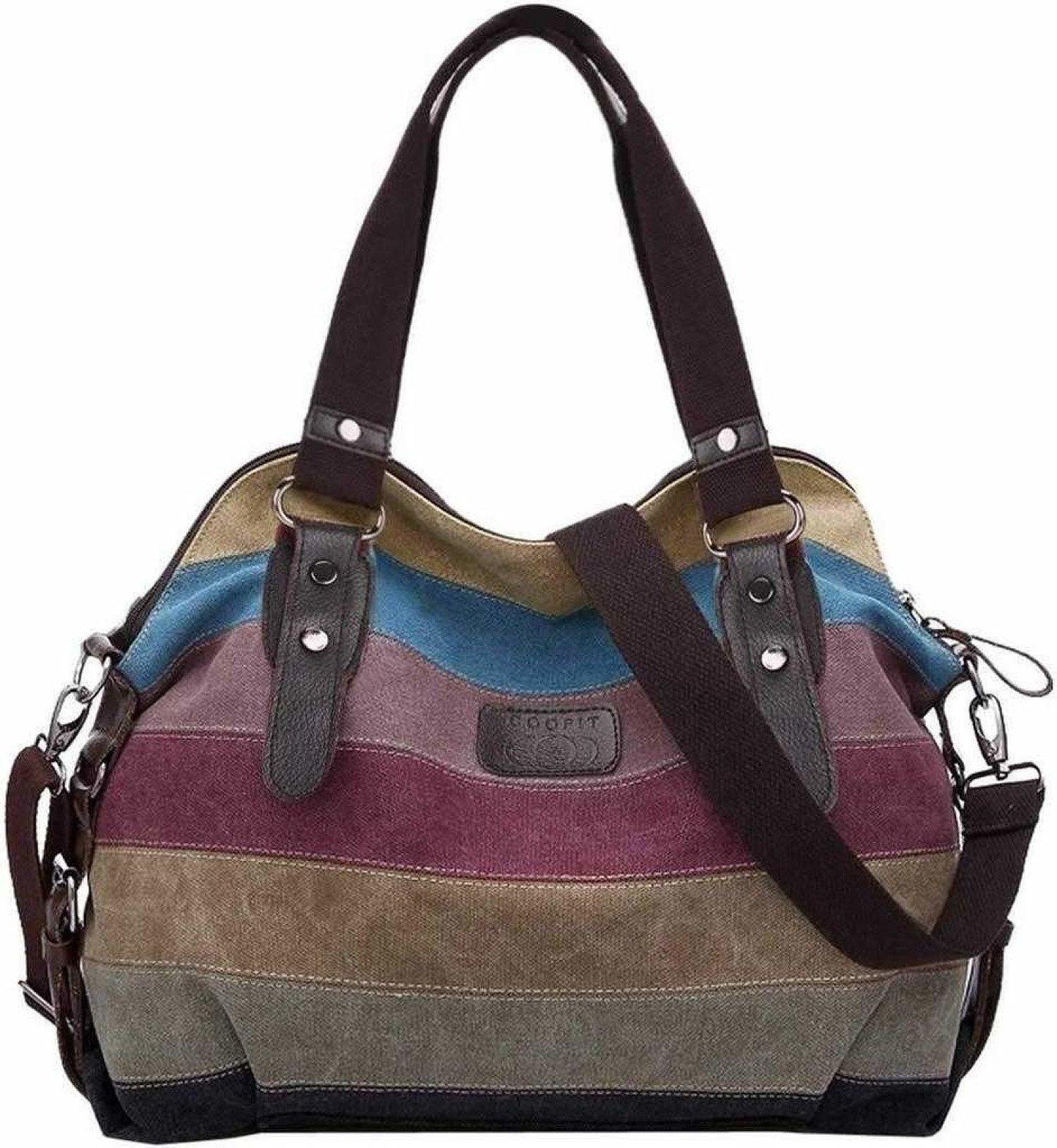 Women's Handbags, Ladies Handbags Striped Canvas Tote Cross body
