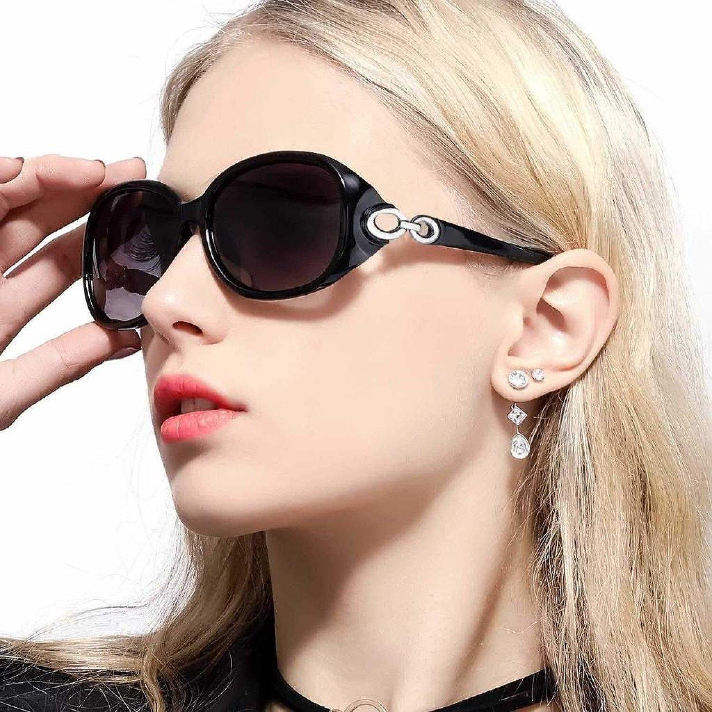 Sunglasses for Women Driving, Large Frame Polarized Lenses & UV400