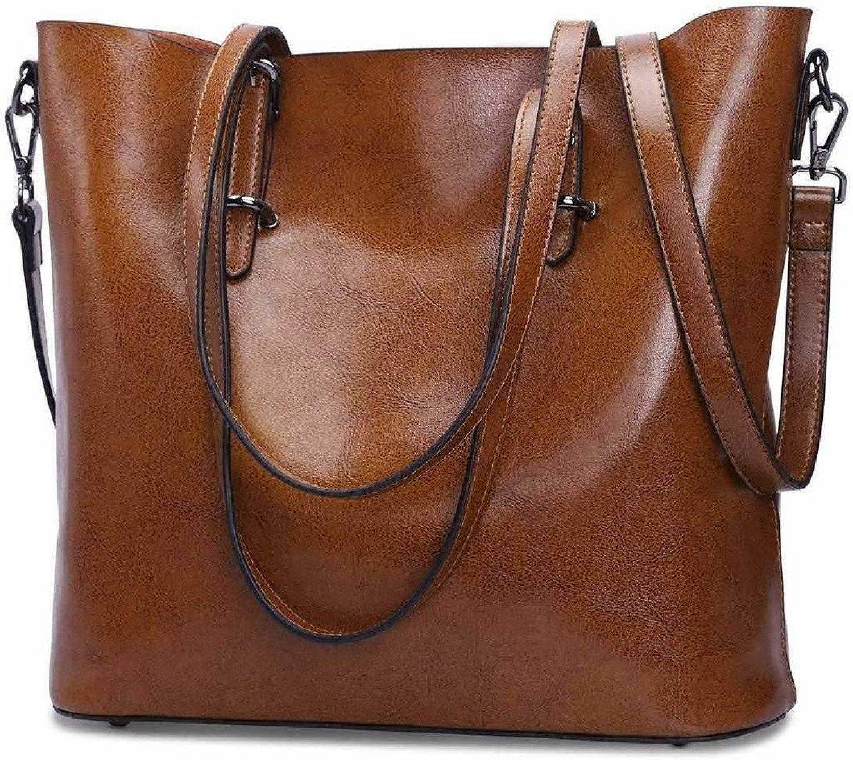 Women Leather Top Handle Handbag Cross Body Shoulder Bag Messenger