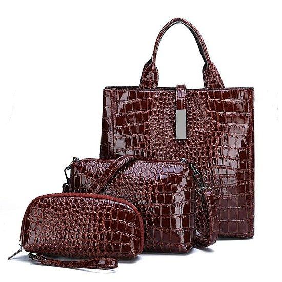 3pcs Leather Bags Handbags Women Famous Brand Shoulder Bag Casual