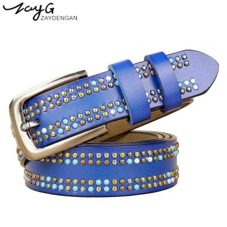 luxury fashion rivet belts high quality designer women belts brand waist belt for women casual pin