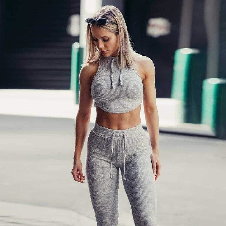 Jumpsuit Solid Yoga Set Women Tracksuit Running Fitness Jogging Sport T-shirt Leggings Suit Gym