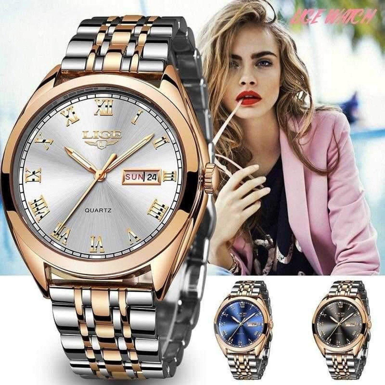 Rose Gold Women Watch Business Quartz Watch Ladies Top Brand Luxury