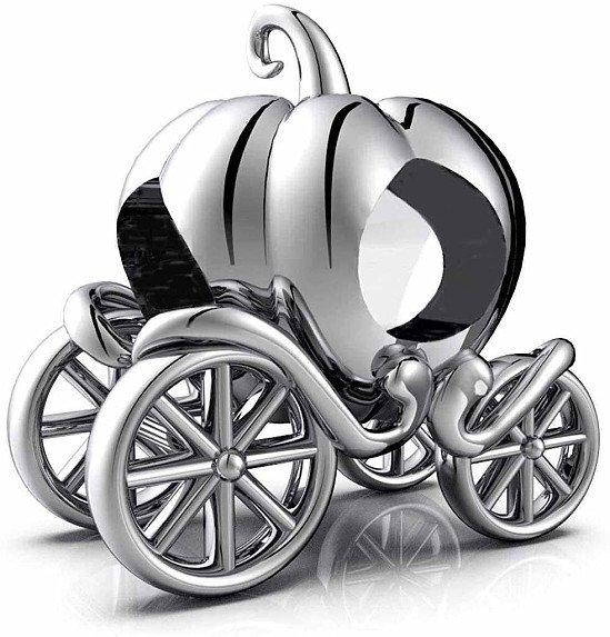 Cinderella Pumpkin Carriage Charm - S925 Sterling Silver
