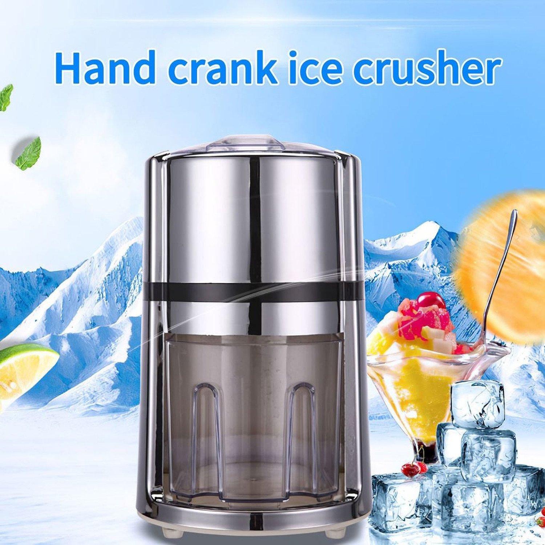 Ice Slush Machine Portable Hand Crank Manual Ice Crusher Shaver Kids Shredding Snow Cone Maker