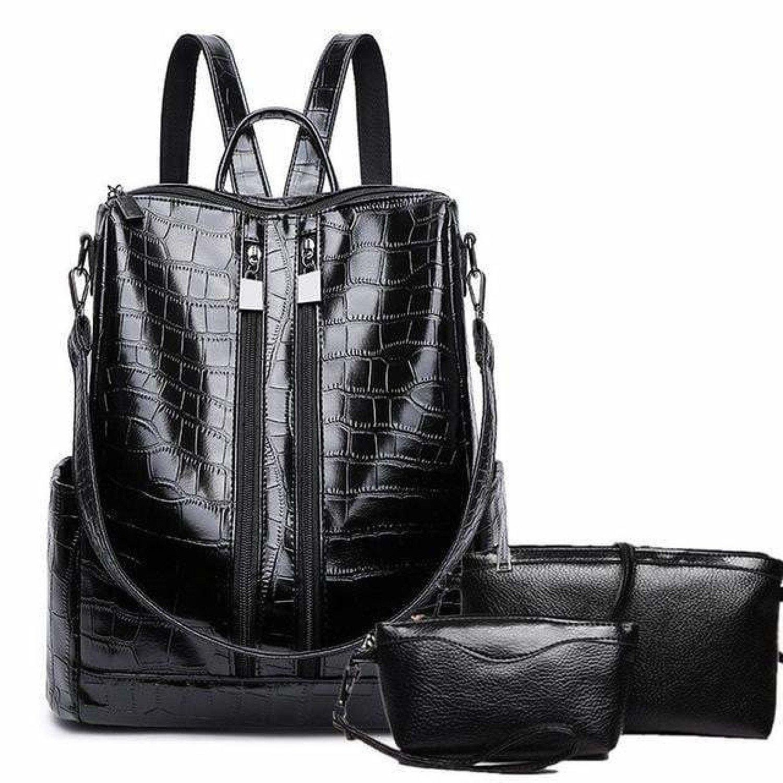 New Backpacks Fashion PU Leather Shoulder Bag Small Backpack