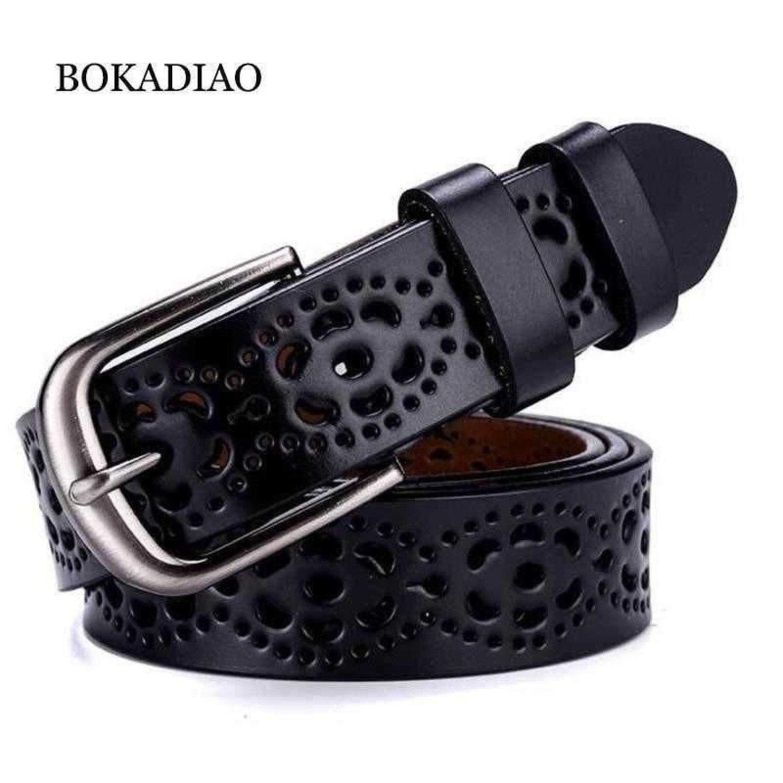 Hot women's genuine leather belt luxury brand designer belts for women