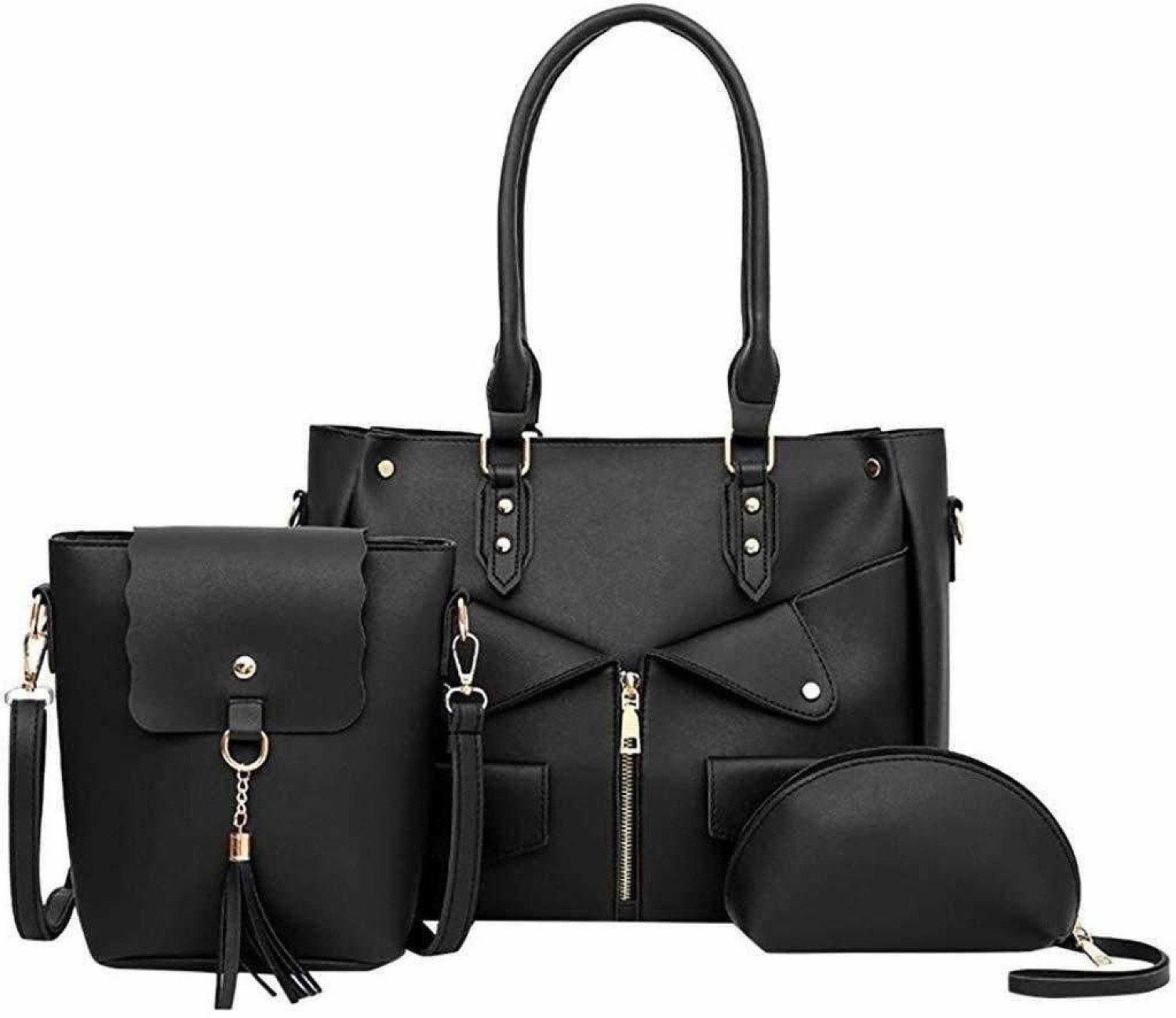LEEDY Women Handbag+Crossbody Bag+Messenger Bag Solid Purse,Weekender Bag For Ladies Weekender Bag 3
