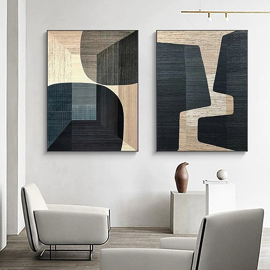 Brown Abstract Canvas Wall  Art