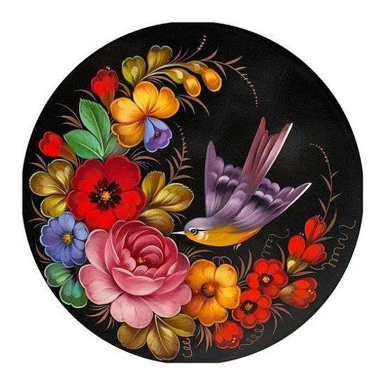 CROSS STITCH ~ BIRD AND FLOWER
