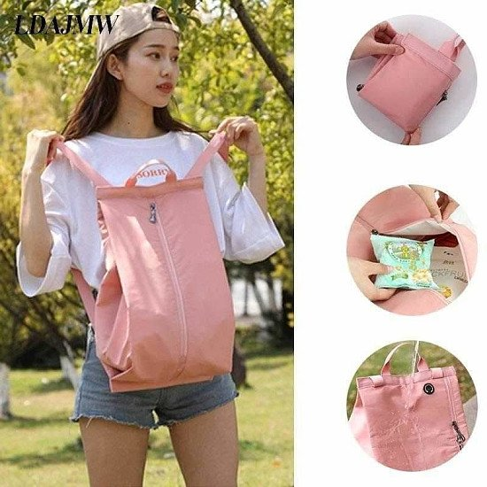 Fashion Men and Women Travel Backpack Dry and Wet Separation Folding