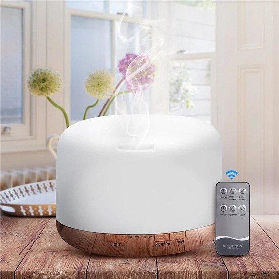 Air Humidifier Essential oil diffuser 500 ML Ultrasonic Cool Mist Maker Foggier Humidifier LED Lamp