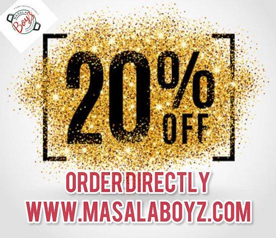 20% OFF ONLINE ORDERS In Tamworth The Masala Boyz
