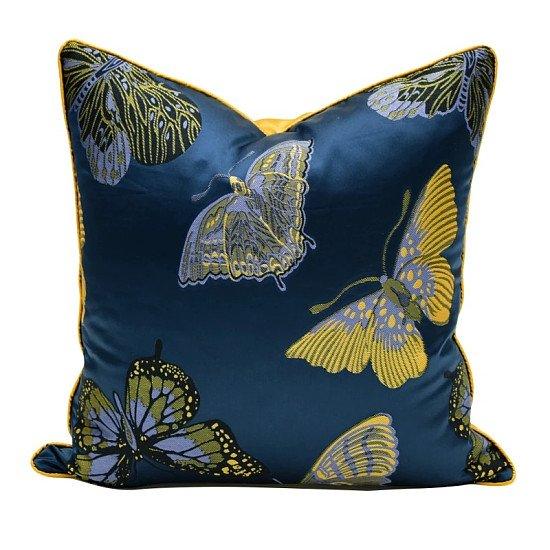 Jacquard Deep Blue Cushion Cover - 45 x 45 cm