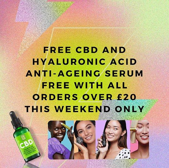 Free CBD and Hyaluronic Acid serum