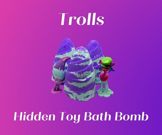 Trolls ( Hidden Toy ) Bath Bomb