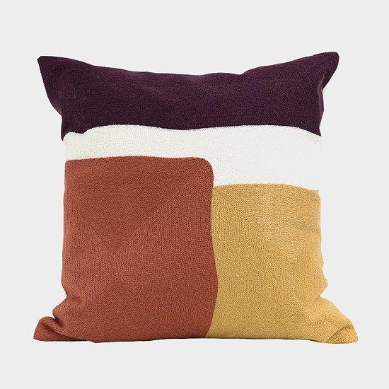 Multicolour Embroidered Cushion Cover - 45 x 45 cm