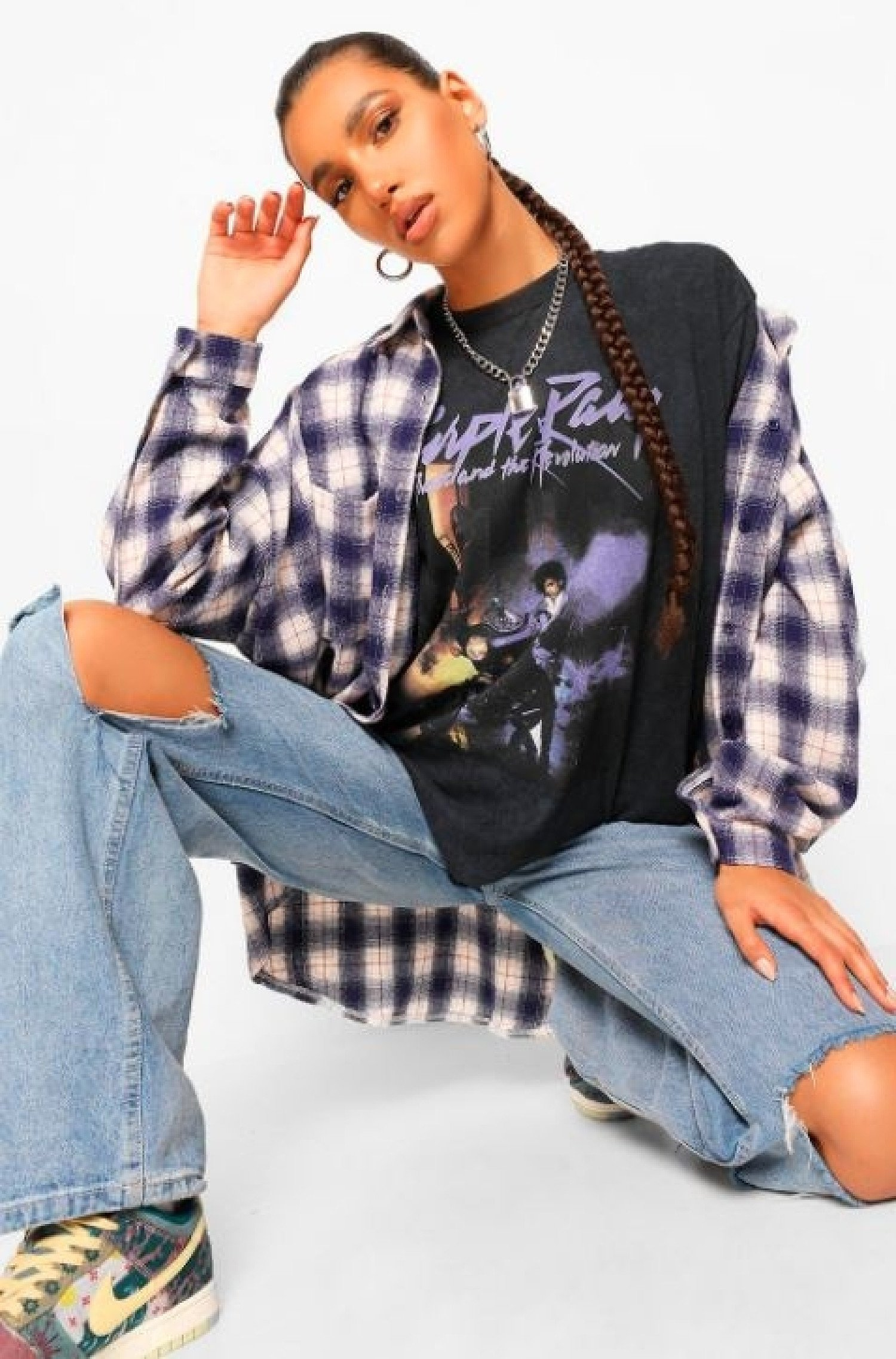 10% OFF AUTUMN STYLES - Oversized Checked Shirt!