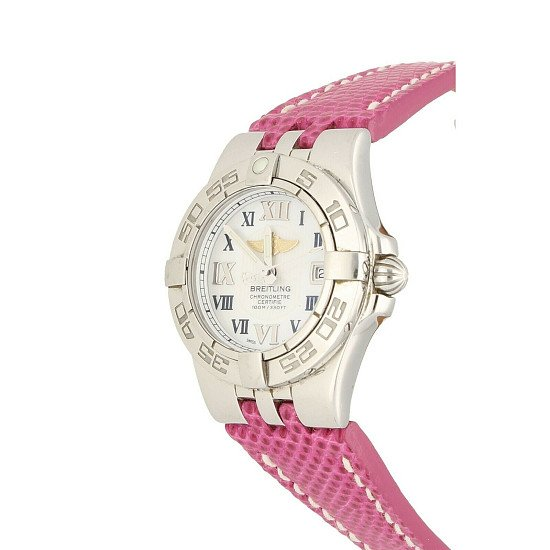 Breitling Star Liner Pink Stainless Steel Pink Watch A71340 Perfect Condition £1,699.00!