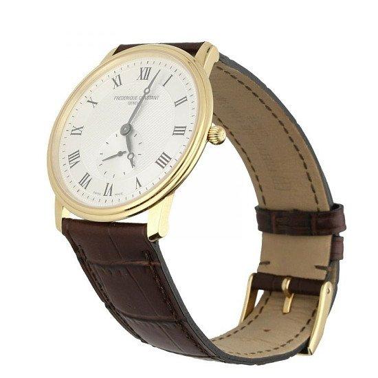 Frederique Constant Slim Gold Plated Quartz Watch FC235X4S25 Perfect Condition £349.00!