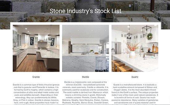 Stone Industry's Stock List
