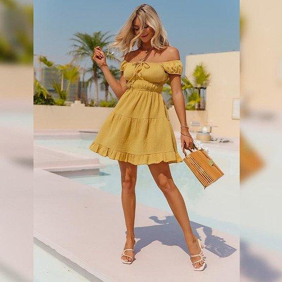 European And American Slim Sweet Temperament Dress