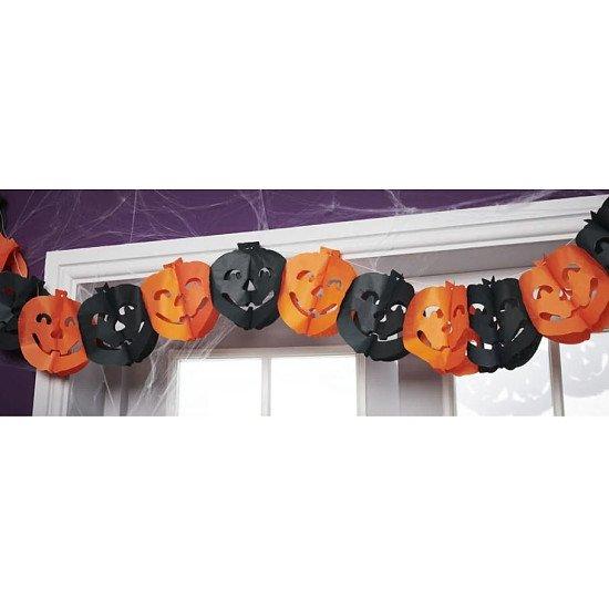 HALLOWEEN - Wilko Halloween Petrifying Pumpkin Garland 2.6m £1.00!