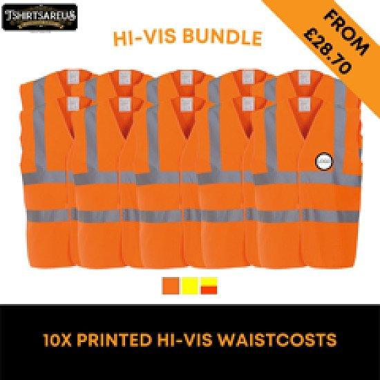 HI-VIS WAISTCOAT X 10