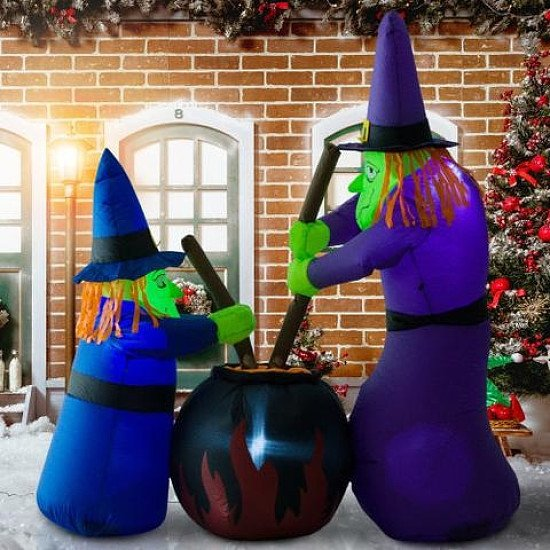 WITCHES ~ 1.8M TALL INFLATABLE SPOOKY HALLOWEEN DECORATION