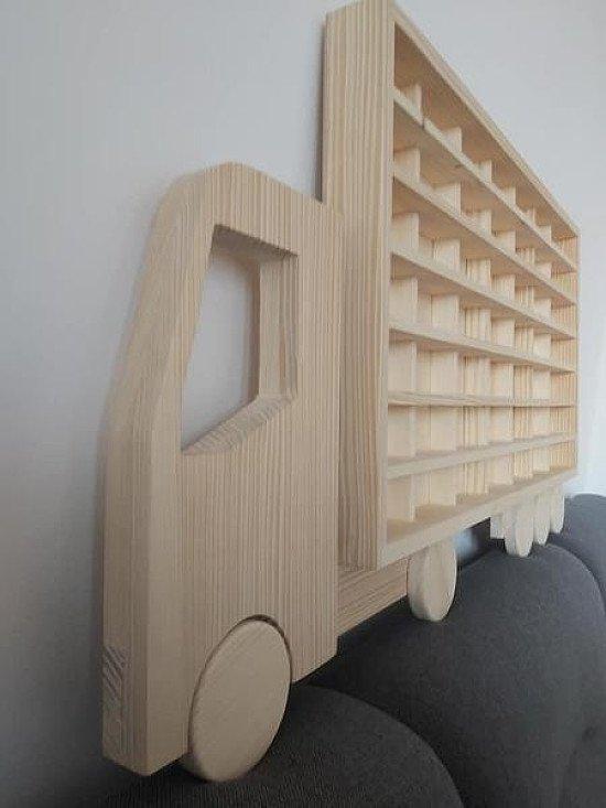 Wood Truck Display Shelf