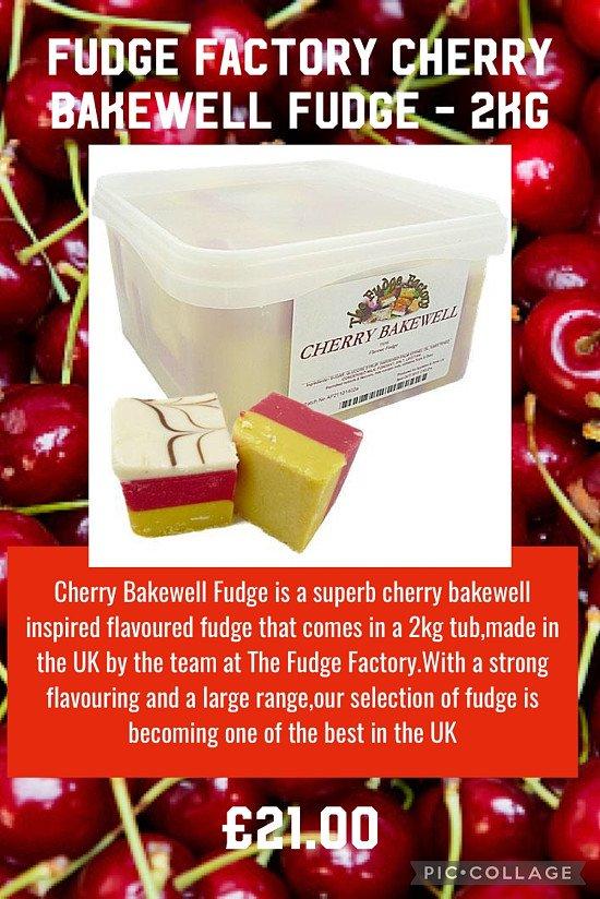 Fudge Factory Cherry Bakewell Fudge - 2kg