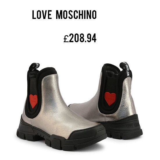 Save Additional 20% and Free Delivery on This  Stylish LOVE MOSCHINO Ladies Boots