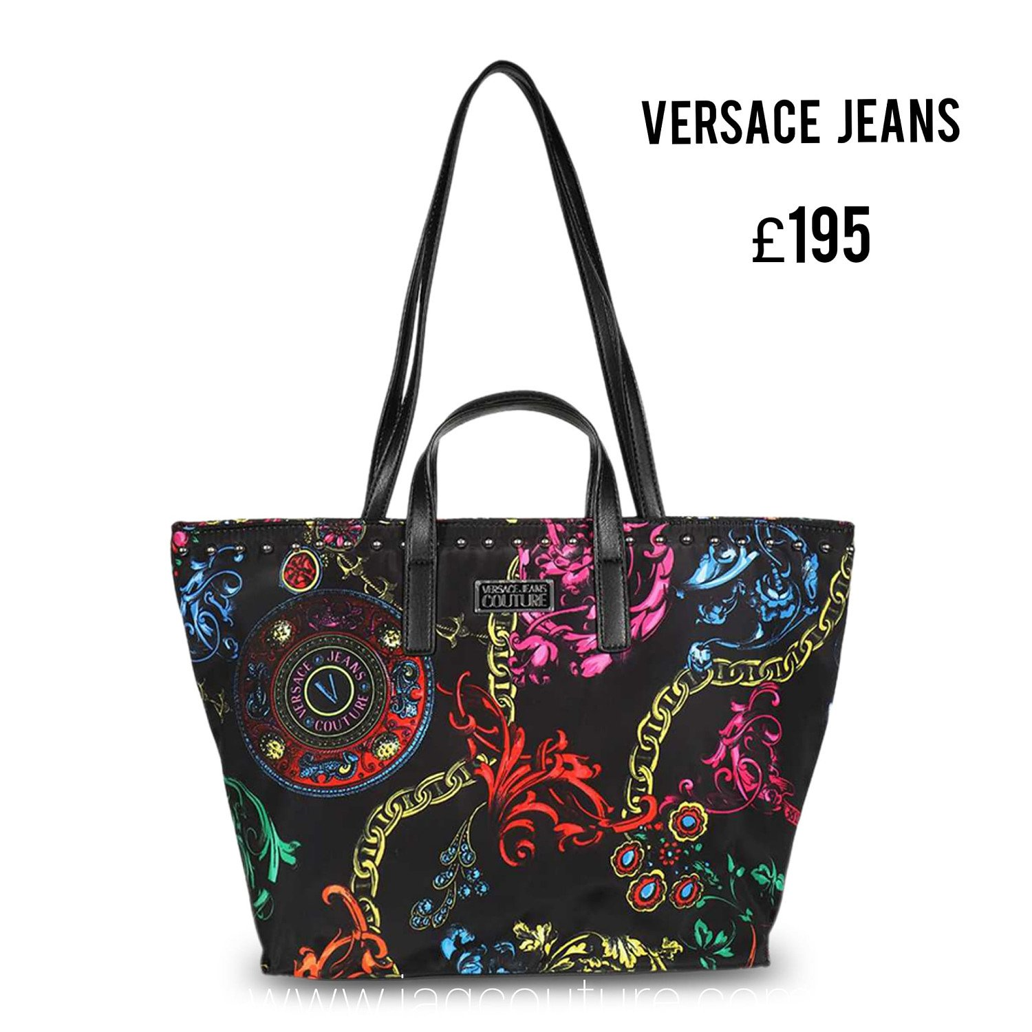 Save Additional 20% and Free Delivery on This Stylish VERSACE JEANS Women's Shopping bag