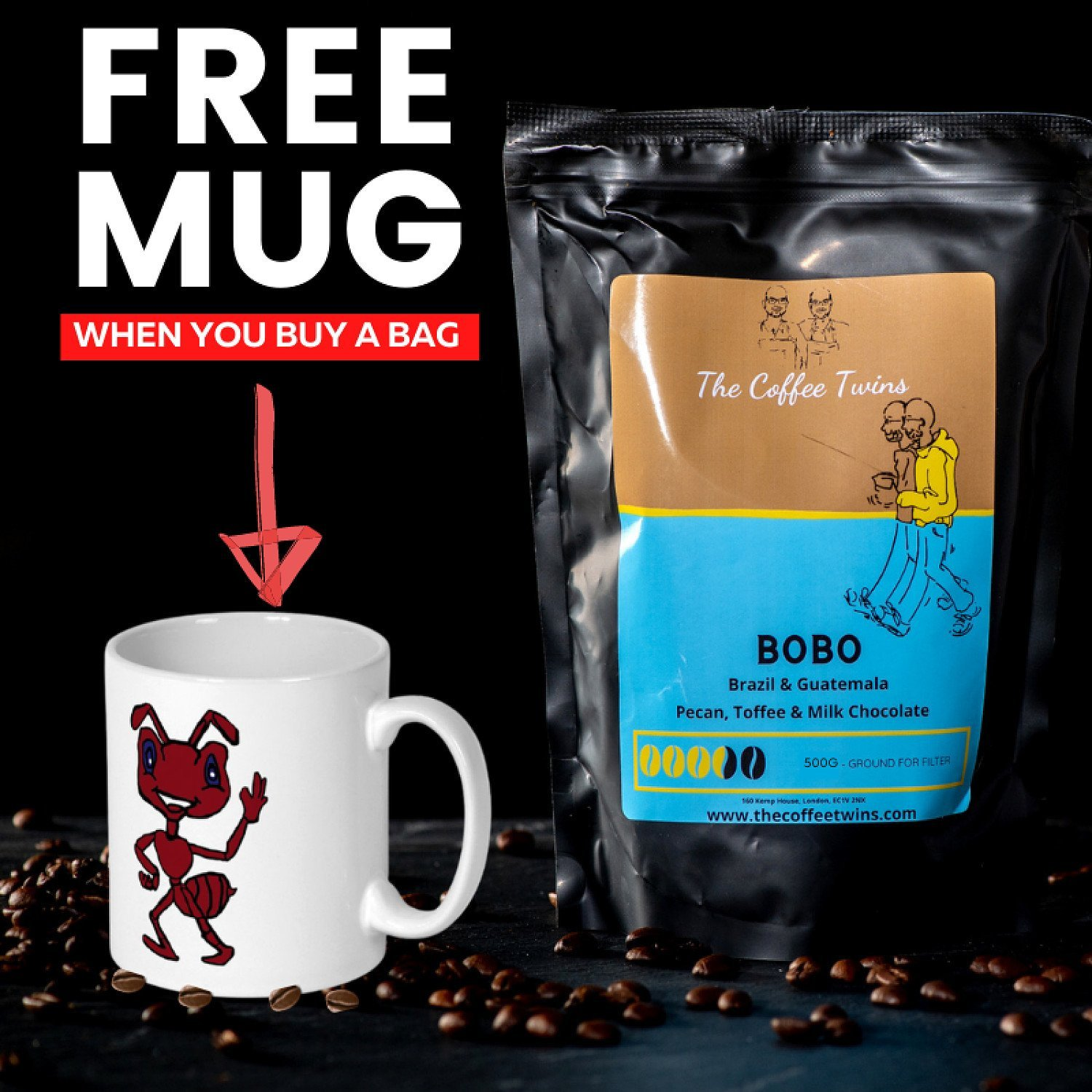 Save 50% on this LIMITED Speciality COFFEE & MUG DEAL