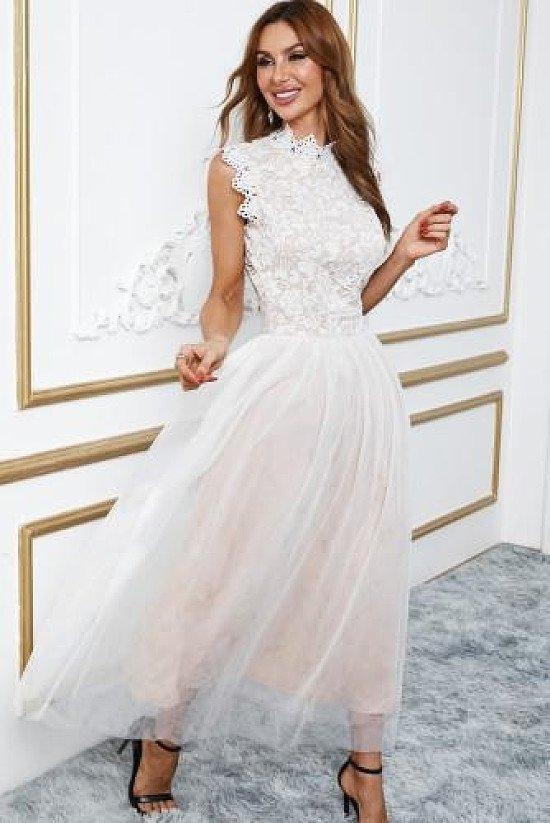 Lace High Neck Dress