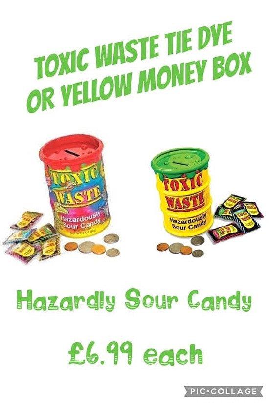 Toxic Waste Money Box - Yellow or Tie Dye