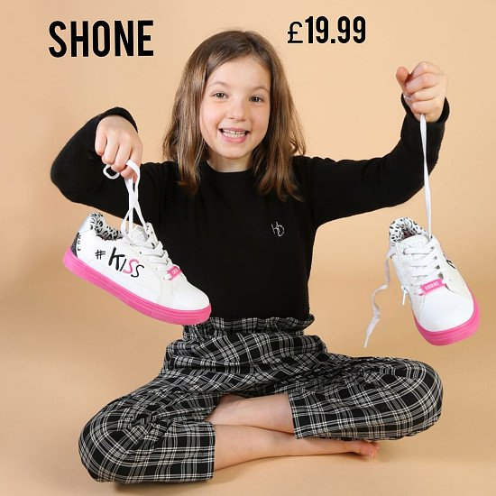Save Additional 20% and Free Delivery on This  Stylish Shone Kids Sneakers