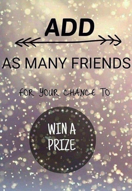 Add friends to a prize