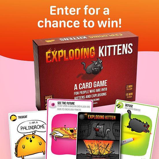 WIN the Exploding Kittens Card Game