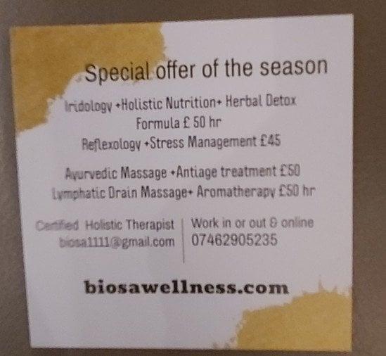 Biosawellness●Certified Holistic Therapist ●