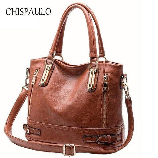 Fashion Women's Genuine Leather Handbags Patent Luxury Brand Women Bags