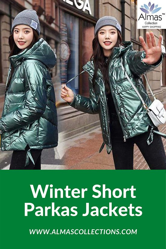 Winter Short Parkas Jackets from Almas Collections