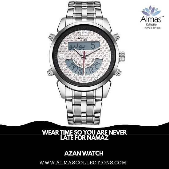 Dual Time Azan Watch from Almas Collections