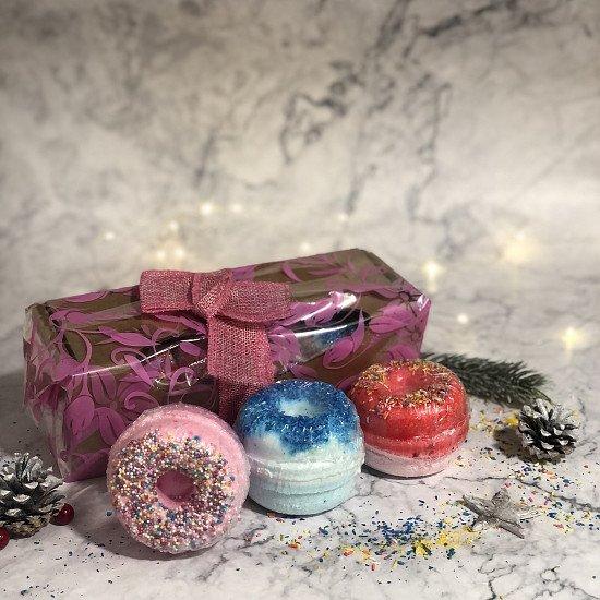 Set Of 3 Donut Bathbombs Gift Pack