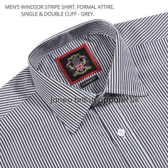 Men's Shirts, Formal Attire. The Windsor Striped, Long Sleeve