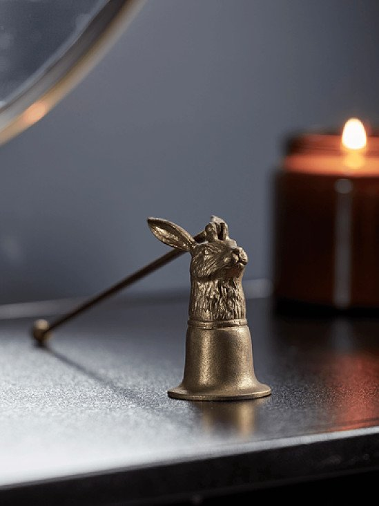 SAVE - Antique Gold Hare Candle Snuffer